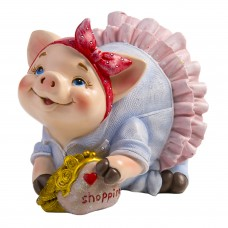 Декоративная копилка Свинья в пачке из полирезины / 12х7х9см арт.77825