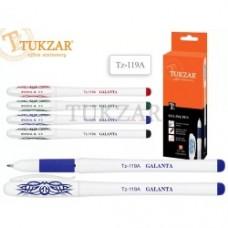 Ручка гелевая: ЗЕЛЕНАЯ, резиновый держатель TUKZAR