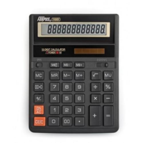 Калькулятор настольный, 12-р., 2-е питание, арт. FO11001