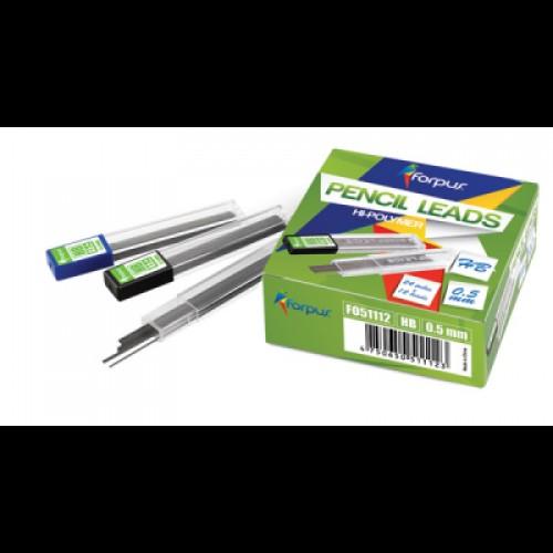 Стержни для механических карандашей 0,5 мм HB HI-PO FO51112