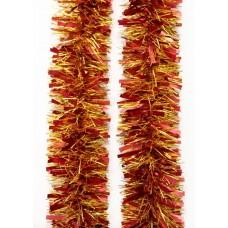 Новогодняя мишура арт.34887 (золото+красный, 9*200 см, из ПЭТ) арт.34887