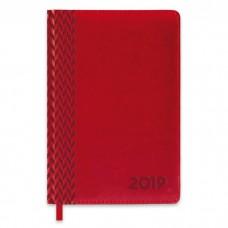 Ежедневник датированный красный арт.47548/15 САРИФ (А5, 146х211 мм, 352 стр.)