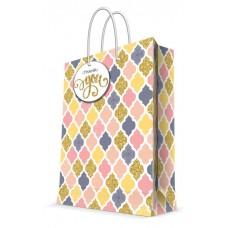 Бумажный пакет Пастель для сувенирной продукции , с ламинацией, с шириной / 26х32.4х12.7см арт.76578
