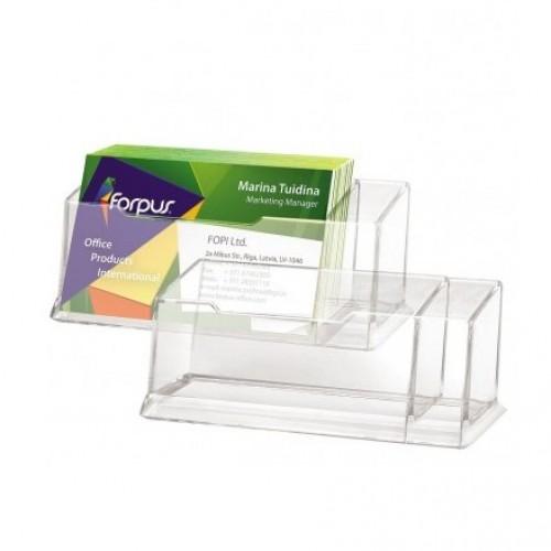 Подставка для визиток FORPUS, прозрачная FО30513