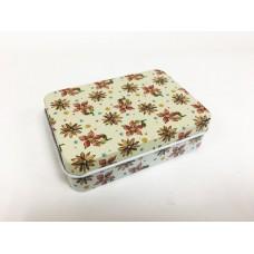 Коробка для безделушек и мелочей Цветочный узор арт.43712 (9х6,5х2,7см из черного окрашенного металл