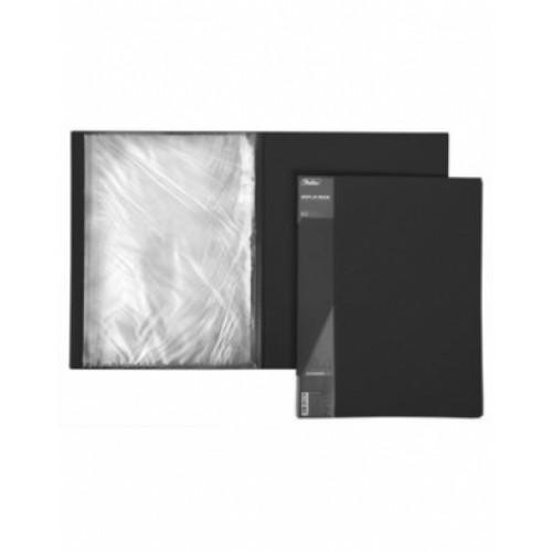 Папка Пластиковая Hatber 20 вкладышей А4ф корешок 14 мм STANDARD черная