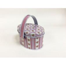 Коробка для безделушек и мелочей Розовые розы арт.43698 (7,9х5,4х5,3см, из черного окрашенного метал