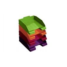 Лоток для бумаг ЭКСПЕРТ GLOSS, горизонтальный (цвета ассорти)