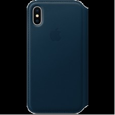 Чехол-книжка Apple Leather Folio for IPhone X Cosmos Blue / MQRW2ZM/A