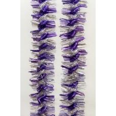 Новогодняя мишура арт.34863 (сиреневый+серебро, 9*200 см, из ПЭТ) арт.34863