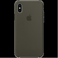 Чехол для iPhone X Silicone Case - Dark Olive