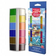 Акварель медовая 12 цветов, карт. уп. Artberry Премиум с УФ защитой яркости арт.41735