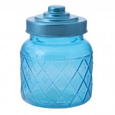 Емкость для сыпучих продуктов из стекла, с  крышкой (объем 0,600 литра) / 10.7x10.7x14 арт.76386