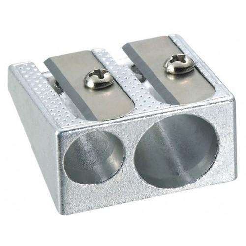 Точилка двойная метал DELI Е39762