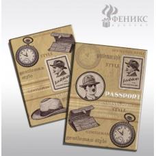 """Обложка для паспорта """"Джентльмен"""" арт.41571 (13,3*19,1см, из ПВХ) / 13,3*19,1 арт.41571"""