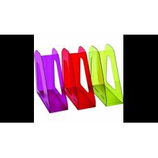 Лоток для бумаг ФАВОРИТ, вертикальный , тонированный , цвета ассорти