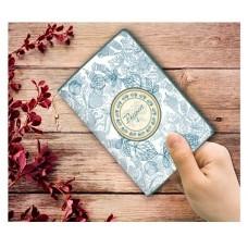 """Обложка для паспорта """"Голубой узор"""" арт.29058 (13,3*19,1 см, из ПВХ)"""