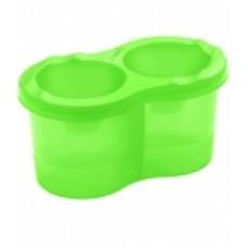 Стакан-непроливайка двойной Зеленое яблоко СН92