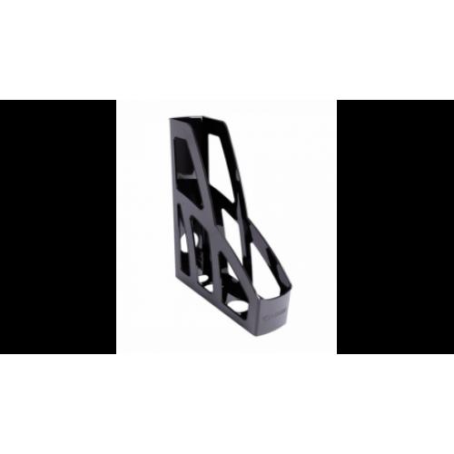 Лоток для бумаг ЛИДЕР, вертикальный, черный