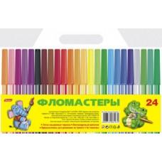 Фломастеры Hatber 24-цв. Игрушки-Зверушки блистер, европодвес BFс_24790