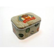 """Коробка для безделушек и мелочей """"Сладкие капкейки"""" арт.33707 (10,5*8*6см, из черного окрашенного ме"""