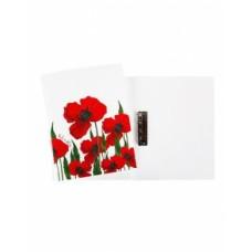 Папка Пластиковая А4ф с метал. прижимом корешок 14 мм-Red on White-AC4_11104