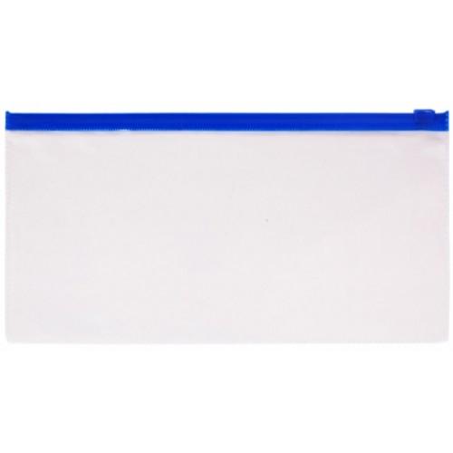 Папка-конверт Пластиковая на молнии А6ф 250х135мм Berlingo 110мкм Прозрачная