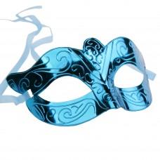 Маскарадная маска Синяя из пластика арт.78199