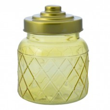 Емкость для сыпучих продуктов из стекла, с  крышкой (объем 0,600 литра) / 10.7x10.7x14 арт.76388