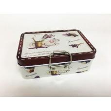 Коробка для безделушек и мелочей Лавандовый рай арт.43724 (12,5х9х4см, из черного окрашенного металл