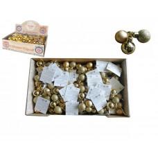 Украшение Золотое из пластика 2,5 см набор 3 шт., арт.78745