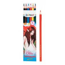"""Карандаши цветные 6 цв. """"ELFIN"""" арт. 134092-06"""