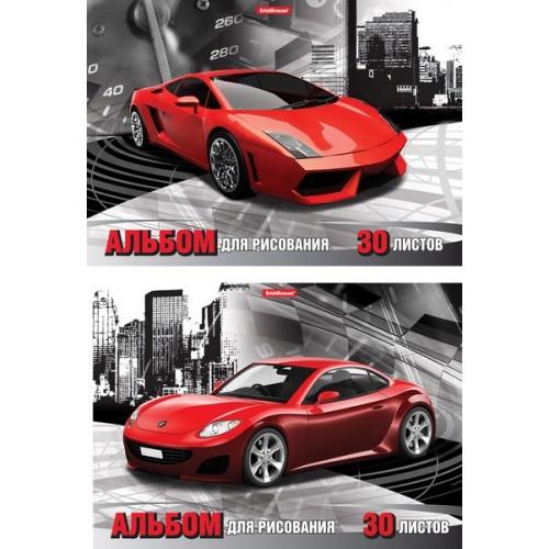 """Альбом для рисования А4 30л. """"Red car"""", клеевое скрепление арт.43364"""