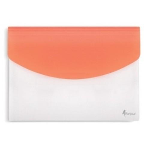 Папка с расширением белая-оранжевая Forpus FO21670