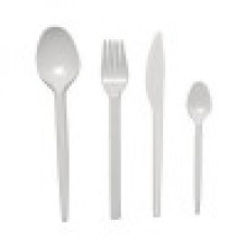 Ножи одноразовые 160мм 100шт пластиковые белые