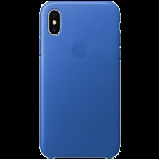 Чехол для iPhone X Leather Case - Electric Blue