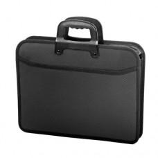 Папка-портфель А4 черная FO21655