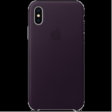 Чехол для iPhone X Leather Case - Dark Aubergine