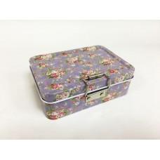 Коробка для безделушек и мелочей Пейсли и розы роз арт.43720 (12,5х9х4см, из черного окрашенного мет