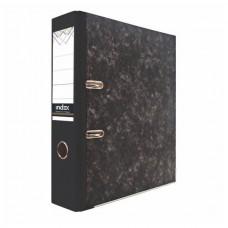Папка-регистратор 50 мм черный мрамор с металл уголком SPONSOR