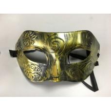 "Карнавальная маска ""Ретро золото"" из пластика (ПВХ) арт.75245"