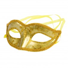 """Карнавальная маска """"Золото"""" из пластика (ПВХ) арт.75235"""