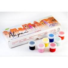 Акриловые краски худож АКВА-КОЛОР набор  24 цв. по 20 мл, 480 мл,  картонная коробка  арт.К4827