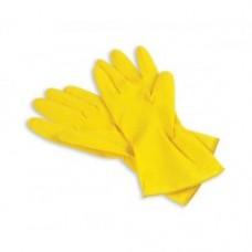 Перчатки хозяйственные латексные с х/б напылением желтые M