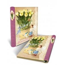 Фотоальбом Желтые тюльпаны с обложкой из картона/24*29 арт.44859