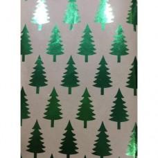 """Крафт бумага """"Зеленые елочки"""" с декоративным рисунком, пл.60 г/м2, арт.79485"""