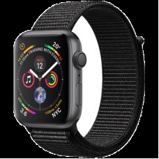 Умные часы Apple Watch Series 4 GPS, 44mm Space Grey Aluminium Case with Black Sport Loop, Model A1978