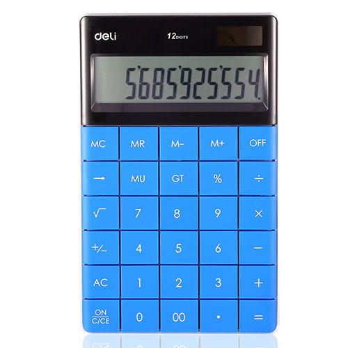 Калькулятор 12 разрядов, синий арт. 1589 (Deli)