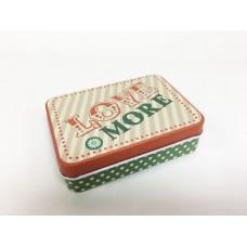 Коробка для безделушек и мелочей Большая любовь арт.43707 (9х6,5х2,7см из черного окрашенного металл