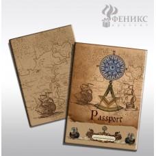 """Обложка для паспорта """"Вокруг света"""" арт.41579 (13,3*19,1см, из ПВХ) / 13,3*19,1 арт.41579"""